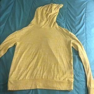 Yellow long sleeve athletic hoodie